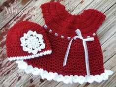 Santa Ruffle Dress and Hat Christmas Crochet - Free Patterns on our site.