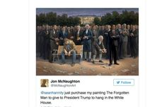www.dailykos.com  Sean Hannity bought Trump a gift for the White House—painting of Obama standing on the Constitution