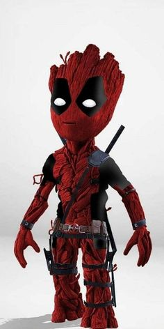 Grootpool - Grootpool Il s'est peint en rouge comme Deadpool et il a acheté le même équipement et la mê - Cartoon Wallpaper Hd, Deadpool Wallpaper, Avengers Wallpaper, Art Deadpool, Deadpool Pikachu, Deadpool Tattoo, Deadpool Symbol, Deadpool Quotes, Deadpool Costume