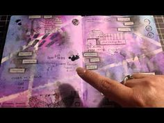 I so love her pages.  Art Journal Pages - using my washi tape