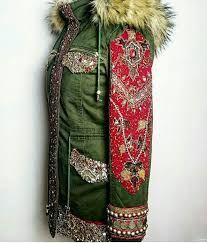Image result for etsy ethnic boho army jacket
