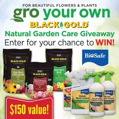 Natural Garden Care GiveawayWith Black Gold and Biosafe Systems