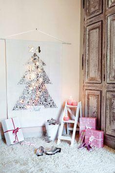 alternative christmas tree via Sisters Guild: christmas ideas