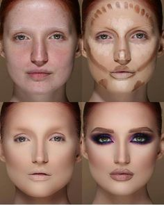 conture makeup Conture makeup tutorial Conture makeup for beginners makeup looks beauty makeup highl Highlighter Makeup, Contour Makeup, Contouring And Highlighting, Skin Makeup, Make Up Contouring, Contouring Tutorial, How To Contour Your Face, Concealer, Makeup Tutorial Step By Step