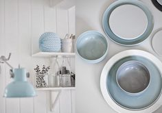 Who said light blue was just for the bedroom? #TCLDecor #Kitchen #Decoration