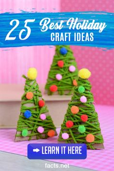 : Your Kids Will Love These Super Simple Christmas Crafts 12 Easy Christmas Crafts For Kids to Make Ideas for Christmas Decorations for Kids Christmas Decorations For Kids, Christmas Crafts For Kids To Make, Kids Christmas, Christmas Facts, Peanuts Christmas, Holiday Decorating, Stick Christmas Tree, Simple Christmas, Christmas Tree Ornaments