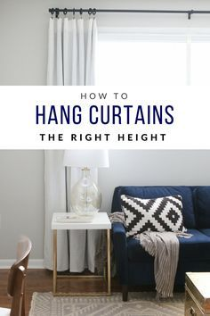 Are You Hanging Your Curtains In The Right Spot Come Read Our Tutorial So