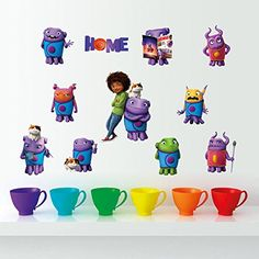 Yosa Creative Movie Cartoon Aliens Crazy Home Decal Wall Sticker Removable Gift for Kids Child Room Decor * Learn more by visiting the image link.