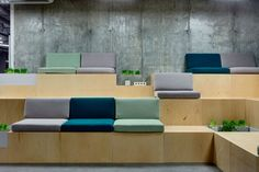 commercial interior design, seating area, waiting area, HUB Andrey Bezugl…, … - commercial office interior o Commercial Interior Design, Office Interior Design, Commercial Interiors, Office Interiors, Interior Design Living Room, Eco Deco, Best Office, Tiny Office, Front Office