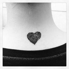 My sons fingerprint :) I didn't want a perfect heart, just his fingerprint. It's perfect!