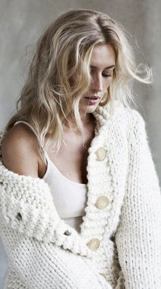 LOVE this cozy thick ivory sweater!