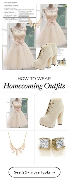 """Homecoming"" by chap15906248 on Polyvore featuring Boohoo and Rivka Friedman"