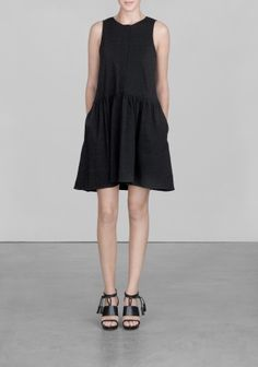 And Other Stories | Sleeveless A-line dress | Black