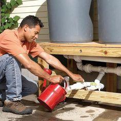 Você pode fazer seu próprio sistema de captação da água da chuva