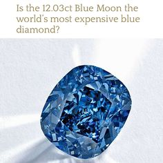 With an estimate of $35-55 million, Sotheby's unveiled a magnificent coloured #gemstone today in London that looks set to become the most expensive #bluediamond in the world.  #luxury #diamond #love #blue
