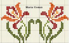 Maria Gomes : Os Meus Gráficos de Ponto Cruz Cat Cross Stitches, Cross Stitch Borders, Cross Stitch Flowers, Cross Stitch Kits, Cross Stitch Designs, Cross Stitch Patterns, Christmas Cross, Blackwork, Pixel Art