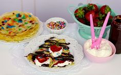 Lindsay Ann Bakes: {VIDEO} Sprinkle Dessert Crêpes Filled with Chocolate, Strawberries & Whipped Cream