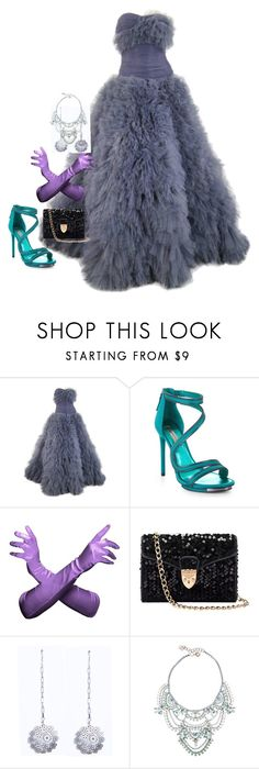 """""""Well Im Trying (explosion)"""" by agent-skyewidow ❤ liked on Polyvore featuring Marchesa, BCBGMAXAZRIA, Aspinal of London, Liz Law, Elizabeth Cole, glam, feathers, glitz and frufru"""