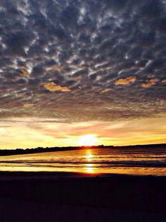 Beautiful sunrise on Aquidneck Island