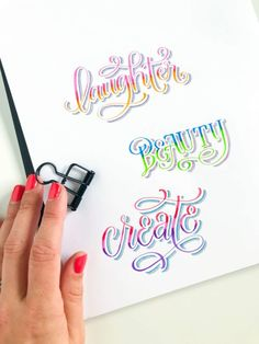 to Create Beautifully Blended Letters with the New Tombow Fudenosuke Colors Learn how to create beautifully blended letters with the new colored Tombow Fudenosuke brush pens in this free tutorial from Amanda Arneill on Blending Blending may refer to: Hand Lettering Alphabet, Doodle Lettering, Creative Lettering, Graffiti Lettering, Brush Lettering, Lettering Design, Typography, Decorative Lettering, Lettering Ideas
