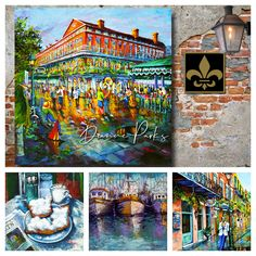 New Orleans Art - Louisiana Lifestyle Paintings by DianneParksArt New Orleans Art, Wow World, Pilot Gifts, New Orleans French Quarter, Etsy Coupon, True Homes, Gifts For Veterans, Vintage Airplanes, Colorful Paintings