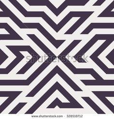 Seamless Vector Maze Pattern for Textile Design