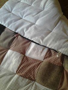 Tuto Couverture bébé plaid patchwork diy