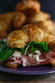 A quick and easy snack that can be made in 1 minute! Enjoy this banh mi sandwich recipe made with a croissant, prosciutto, salami and bologna.