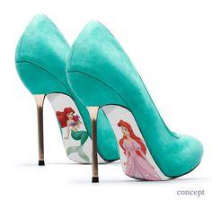 Custom hand painted Little Mermaid pumps by AshtonAtelier on Etsy