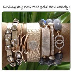 arm candy // bracelets // monogram // bling @girlswillbegirls