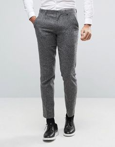ASOS Slim Suit Pant in Textured Fabric