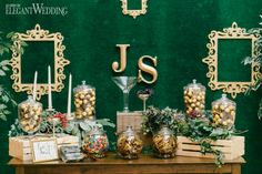 To bring to life Toronto couple Jen and Shana's vision of an ultra-glamorous garden-inspired wedding, Fab Fete combined luscious greenery, opulent golds. Wedding Styles, Real Weddings, Wedding Inspiration, Place Card Holders, Table Decorations, How To Plan, Elegant, Classy, Chic