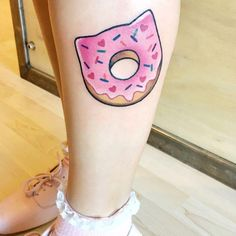 0658da2f874 My new tattoo done by ( on IG) my donut kitty dreams have come true!