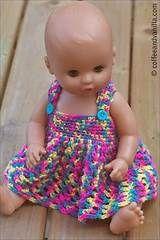 free crochet doll poncho pattern | Crochet and Knit