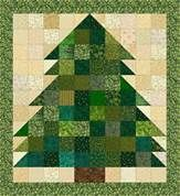 Quilt Patterns Tree - could also add buttons, etc. for decoration