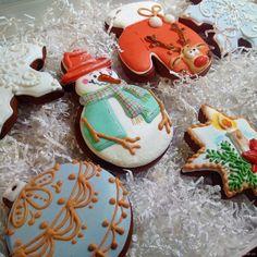 """Купить пряники новогодние"""" Новогоднее ассорти"""" в интернет магазине на Ярмарке Мастеров"""