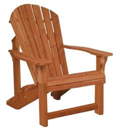 Amish Cedar Wood Traditional Adirondack Chair Available finished or unfinished. Amish made in Indiana. #Adirondacks4Comfort