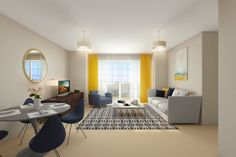 Interior CGI Created by www.pixelimage.co.uk for new MacTaggart & Mickel Development -Castle Grove Apartments, Newton Mearns