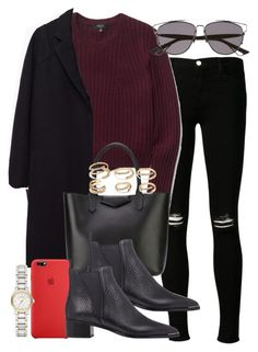 """""""Sin título #3587"""" by hellomissapple ❤ liked on Polyvore featuring J Brand, The Row, Givenchy, Forever 21, Acne Studios and Burberry"""