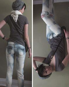 DIY: Bleached Jeans