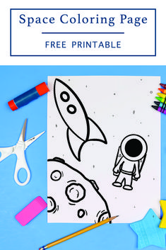 Download this FREE Printable Space Coloring Sheet from Everyday Party Magazine #STEMActivities #FreePrintables #Space