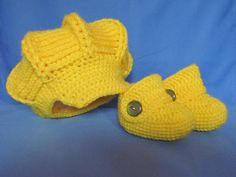 Handmade Bright Yellow Baby Crochet  Booties and by MagicalStrings, $38.00