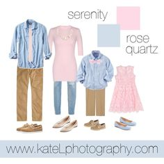 Rose Quartz + Serenity // Family Outfit by katelphoto on Polyvore featuring 7 For All Mankind, Theory, Furla, LC Lauren Conrad, Sperry, Banana Republic, J.Crew, ASOS and Preen