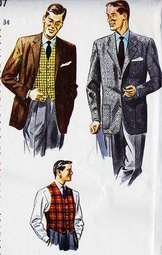 1950s Mens Clothing, Mens Clothing Styles, 1950s Fashion, Men's Fashion, Vintage Fashion, Office Fashion, Hipster Outfits, Hipster Clothing, Men's Clothing