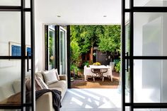 Modern Farmhouse Exterior, Outdoor Furniture Sets, Outdoor Decor, Windows, Patio, Room, Home Decor, Kitchen, Furniture