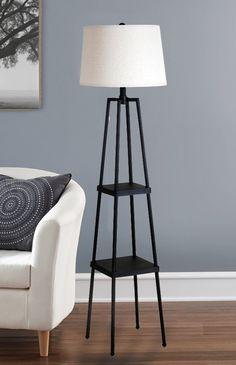 Tripod Floor Lamp - All For Decoration Tree Floor Lamp, Swing Arm Floor Lamp, Arc Floor Lamps, Modern Floor Lamps, Decor Interior Design, Interior Decorating, Modern Interior, Torchiere Floor Lamp, Room Lamp