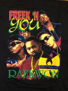 Vintage 90's Rap T-Shirt - JODECI/WU-TANG/RAEKWON DEADSTOCK T-SHIRT