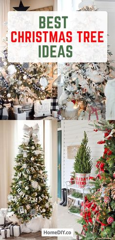 Christmas Tree Decorations - Best Themes and Ideas Farmhouse Style - Home DIY Cool Christmas Trees, Christmas Tree Decorations, Christmas Crafts, Xmas, Rustic Christmas, Christmas Time, Christmas Ideas, Rustic Decor, Farmhouse Decor