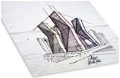 Helmut Jahn Sketches | Helmut Jahn