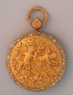 Antique Pocket Watches - Diamond Rococo #6073 Diamond Rococo